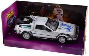 Michael J. Fox Autographed Back to The Future Delorean 1:24 Die Cast Car - PSA
