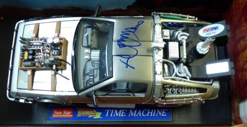 Michael J Fox Autographed Back To The Future Delorean Car 1:18 Scale Psa 105725