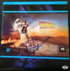 """Michael J Fox Autographed """"Back To The Future"""" Laser Disc Signed PSA DNA"""