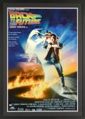 """Michael J Fox Autographed Framed 33"""" x 46"""" Back to the Future Movie Poster - PSA/DNA"""