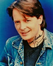 Michael J Fox Signed - Autographed Vintage 8x10 Photo