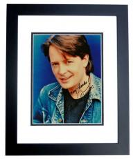 Michael J Fox Signed - Autographed Vintage 8x10 Photo BLACK CUSTOM FRAME