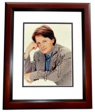 Michael J Fox Autographed Vintage 8x10 Photo MAHOGANY CUSTOM FRAME