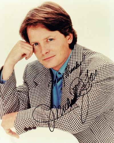 Michael J. Fox Signed - Autographed Vintage 8x10 inch Photo - Back to the Future Actor - Guaranteed to pass PSA or JSA