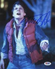 MICHAEL J FOX Back to Future Autographed Signed 8x10 Photo Certified PSA/DNA