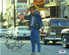 Michael J Fox Back to Future Autographed Signed 8x10 Photo PSA/DNA AFTAL