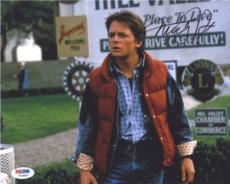 MICHAEL J FOX Back to Future Autographed Signed 8x10 Photo PSA/DNA AFTAL