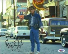 MICHAEL J FOX Back to Future Autographed Signed 8x10 Photo PSA/DNA