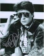 """Michael J. Fox Back to the Future Autographed 11"""" x 14"""" Wearing Glasses Photograph - BAS"""