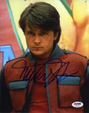 MICHAEL J FOX Back to the Future Autographed Signed 8x10 Photo Certified PSA/DNA