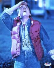 Michael J Fox Back to the Future Autographed Signed 8x10 Photo PSA/DNA AFTAL