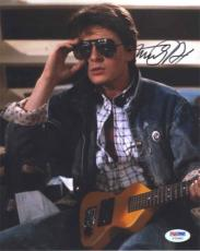 MICHAEL J FOX Back to the Future Autographed Signed 8x10 Photo PSA/DNA