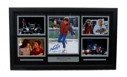 Michael J. Fox Back to the Future Autographed/Signed Framed Collage JSA 135275