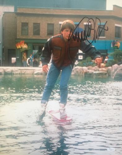 Michael J Fox Back To The Future (Hoverboard) Signed 16x20 Photo JSA