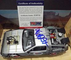 "Michael J Fox ""back To The Future Iii"" Signed Autograph Diecast Car Psa/dna Coa"