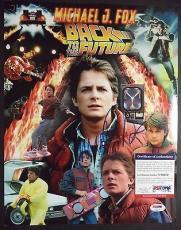 Michael J Fox Back To The Future Psa/dna Coa Signed Autograph 11x14 Photo L@@k A