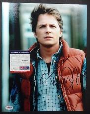 Michael J Fox Back To The Future Psa/dna Coa Signed Autographed 11x14 Photo L@@k