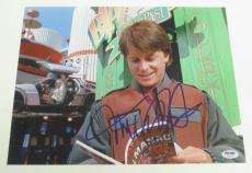 Michael J Fox Back To The Future Signed 11x14 Photo Autograph Proof Psa Coa A