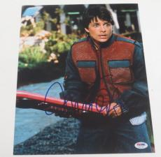 Michael J Fox Back To The Future Signed 11x14 Photo Autograph Proof Psa Coa D