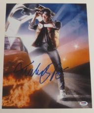 Michael J Fox Back To The Future Signed 11x14 Photo Autograph Proof Psa Coa E