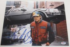 Michael J Fox Back To The Future Signed 11x14 Photo Autograph Proof Psa Coa F