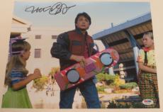 Michael J Fox Back To The Future Signed 11x14 Photo Autograph Proof Psa Coa G