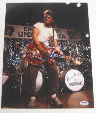 Michael J Fox Back To The Future Signed 11x14 Photo Autograph Proof Psa Coa J