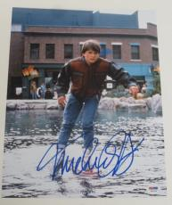 Michael J Fox Back To The Future Signed 11x14 Photo Autograph Proof Psa Coa L