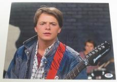 Michael J Fox Back To The Future Signed 11x14 Photo Autograph Proof Psa Coa O