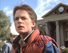 Michael J. Fox Back To The Future Signed 11X14 Photo BAS #B18424