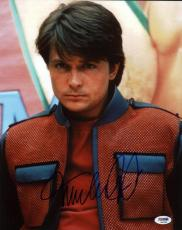 Michael J Fox Back To The Future Signed 11X14 Photo PSA/DNA #Q45289