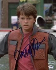 Michael J Fox Back To The Future Signed 11x14 Photo Psa/dna #s33440