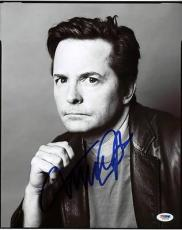Michael J Fox Back To The Future Signed 11X14 Photo PSA/DNA #S33443