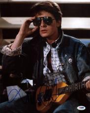 Michael J Fox Back To The Future Signed 11X14 Photo PSA/DNA #S33574