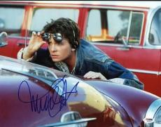 Michael J Fox Back To The Future Signed 11X14 Photo PSA/DNA #S33575