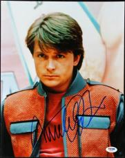 Michael J Fox Back To The Future Signed 11X14 Photo PSA/DNA #T34684