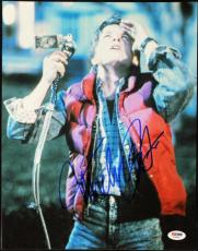 Michael J Fox Back To The Future Signed 11X14 Photo PSA/DNA #T34685
