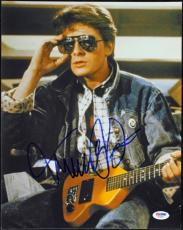Michael J Fox Back To The Future Signed 11X14 Photo PSA/DNA #T34687