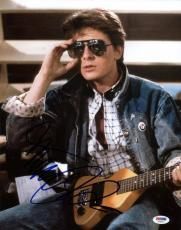 Michael J Fox Back To The Future Signed 11x14 Photo Psa/dna #t76015
