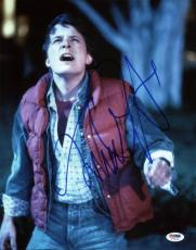 Michael J Fox Back To The Future Signed 11X14 Photo PSA/DNA #T76019