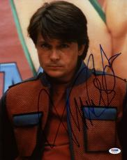 Michael J Fox Back To The Future Signed 11X14 Photo PSA/DNA #T76021