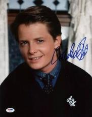 Michael J. Fox Back To The Future Signed 11x14 Photo Psa/dna #u23766