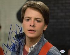 Michael J. Fox Back To The Future Signed 11x14 Photo Psa/dna #u23812