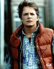 Michael J. Fox Back To The Future Signed 11X14 Photo PSA/DNA #U23816