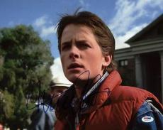 Michael J Fox Back To The Future Signed 11X14 Photo PSA/DNA #U52277