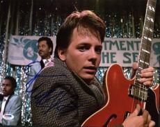 Michael J Fox Back To The Future Signed 11x14 Photo Psa/dna #u52278