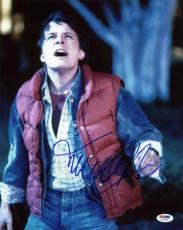 Michael J Fox Back To The Future Signed 11X14 Photo PSA/DNA #U52280