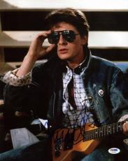 Michael J Fox Back To The Future Signed 11X14 Photo PSA/DNA #U52281
