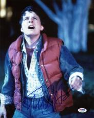 Michael J Fox Back To The Future Signed 11X14 Photo PSA/DNA #U52293