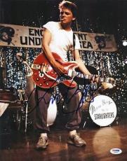 Michael J Fox Back To The Future Signed 11X14 Photo PSA/DNA #V20426